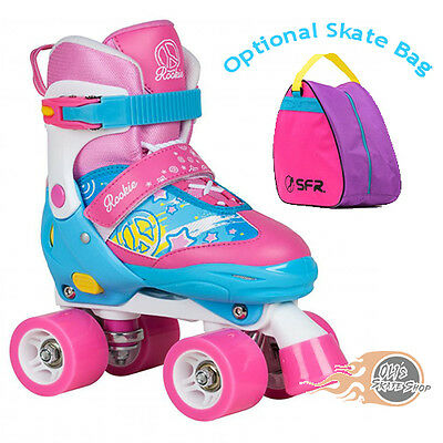 Rookie Fab Adjustable Childrens Girls Quad Roller Skates - Optional Skate Bag • 37.95£