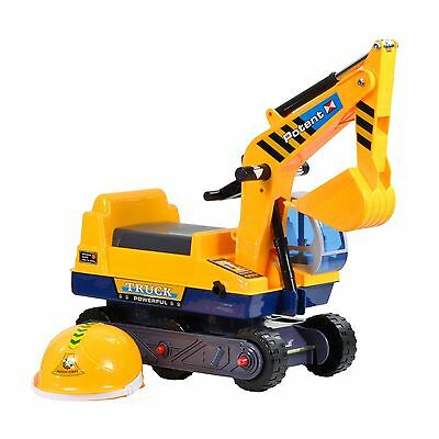 Boppi Kids Toddler Ride On Push Along Toy Digger - Yellow • 29.99£