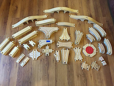 Brio & Compatible Wooden Train Track Straights, Corners Junctions - Combine Post • 10£