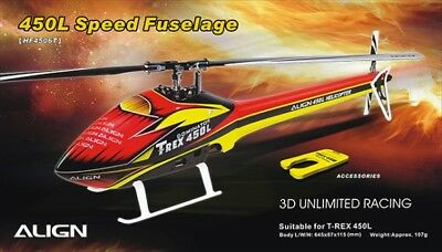 Align T-Rex 450L Speed Fuselage - Red/Yellow • 61.29£