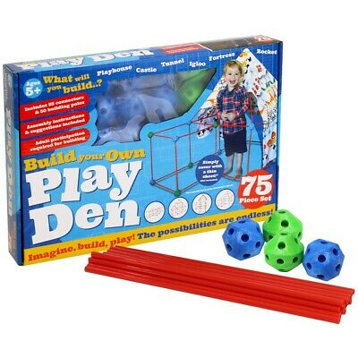 Build Your Own Den - 75 Piece Kit (null), Toys & Games, Brand New • 14£