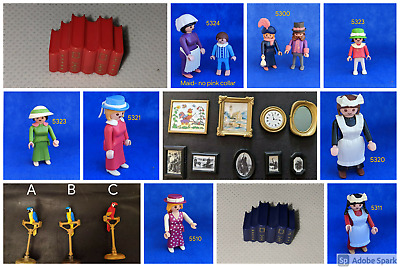 Playmobil Victorian Mansion 5300 5301 5305  FURNITURE PEOPLE ~choose~ LL Post • 5.50£