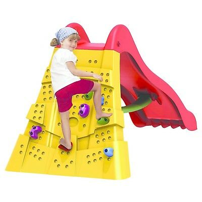 Starplast Slide With Climbing Wall Plastic Strong Design Fast Free Delivery. • 129.95£