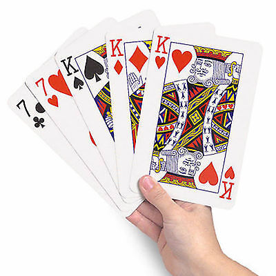 Giant A3 Jumbo Large Playing Cards Large Big Deck Of Cards Red Coated BNIB • 9.99£