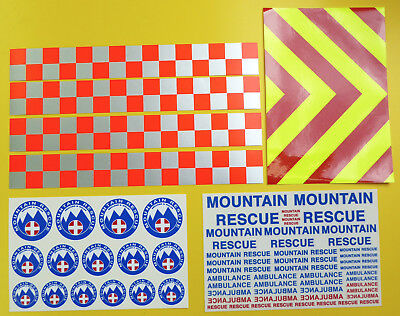 RC Rock Crawler 'MOUNTAIN RESCUE' 4x4 10th Scale Stickers Decals RC4WD D90  • 19.95£
