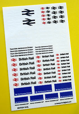 BRITISH RAIL CODE 3 High Detail Stickers Decals Model Railway HO OO Gauge • 4.95£