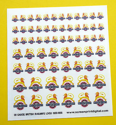 BRITISH RAILWAYS LOGO High Detail Stickers Decals Model Railway OO Gauge 1950-56 • 5.95£