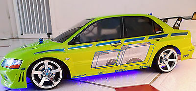 RC 10th Scale FAST AND FURIOUS MITSUBISHI EVO Stickers Decals DRIFTING JDM • 9.95£