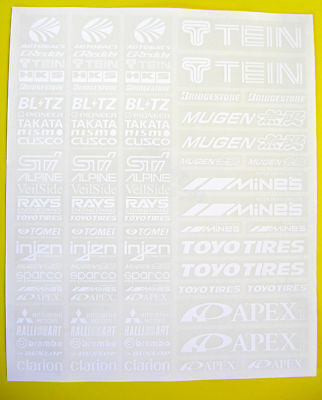 RC Drift WHITE Stickers Decals HPI Losi Drift-R Kyosho • 9.95£