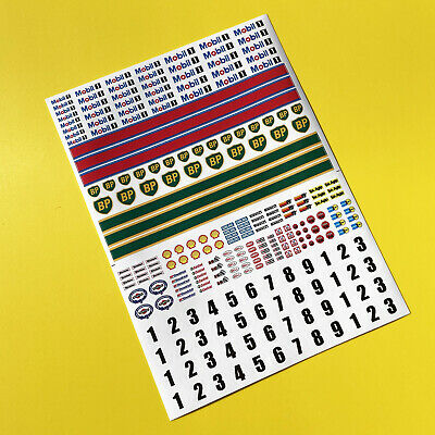 SLOT CAR SCALEXTRIC 1/32nd Scale Classic Race Stickers Decals • 8.95£