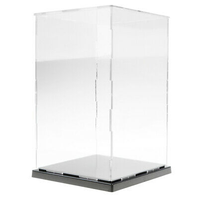 Clear Acrylic Display Case Perspex Plastic Show Box Dustproof (8''-16'' Height) • 30.98£