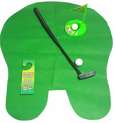 Potty Putter Toilet Golf Game Indoor Practice Mini Golf Training Accessory  • 6.49£