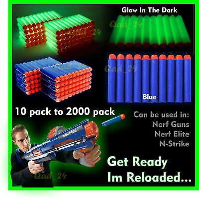 20-1000PC Soft Refill Bullets Darts Round Head Gun Blaster Nerf N-strike Kid Toy • 6.79£