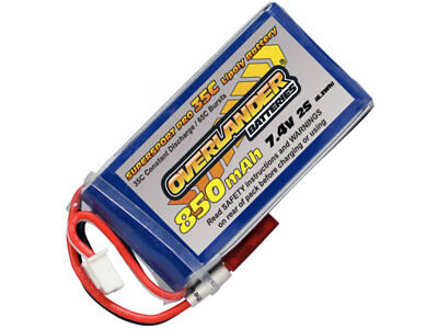 850mAh 2S 7.4v 35C LiPo Battery With BEC Connector • 13.99£