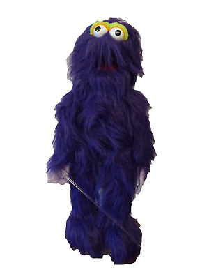 Monster Puppet Purple 26  Ventriloquist,Educational.Moving Mouth And Arm Rod • 36£