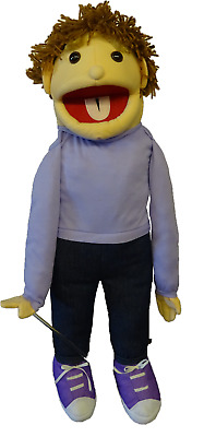Boy Puppet Jack 26  Ventriloquist.Moving Mouth And Arm Rod • 36£