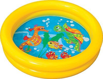 Intex Baby Paddling Pool 2 Ring Small 61cm Inflatable Home Garden Holiday Fun • 4.83£