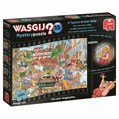 Wasgij Mystery 15 A Typical British BBQ 1000 Piece Jigsaw Puzzle, Brand New • 12£