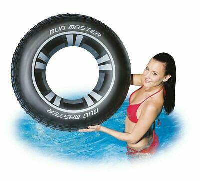 36  Large Inflatable Tyre Swim Ring Adults Older Children Pool Float Lounger • 4.55£