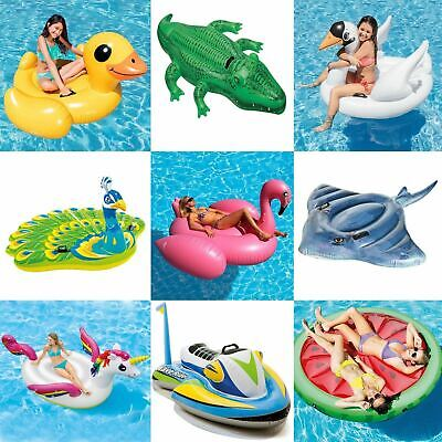 Inflatable Ride On Swimming Pool Beach Toy Float Rider Lilo • 9.99£