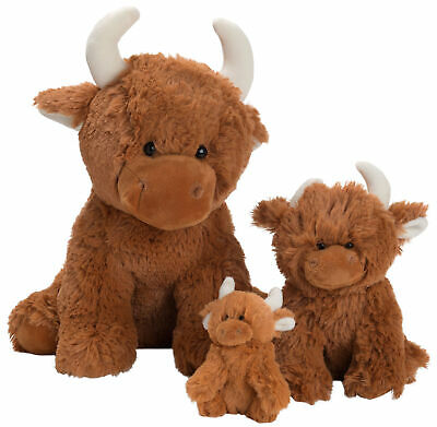 Super Soft Highland Cow Soft Toys Extra Large Small Suitable From Birth • 26.95£