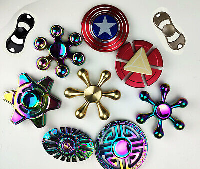 Rainbow Fidget Spinner Colourful Metal Hand Spin Fast Bearing Stress Toys • 3.79£