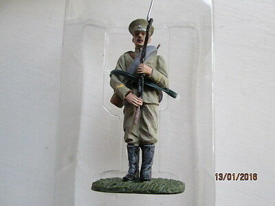 54 Mm SCALE PAINTED LEAD BRIT SOLDIER PRIVATE KEXHOLMSKI LIFEGUARDS 1914  MIB • 4.50£