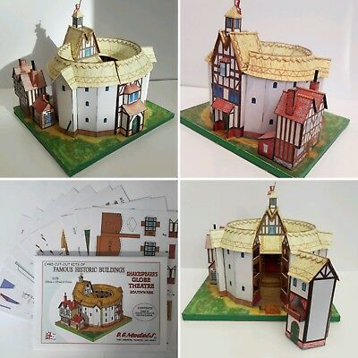 Shakespeares Shakespeare's Globe Theatre Full Colour A5 Cut Out Card Model Kit • 6.95£