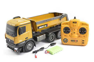 Huina Rc Tipper/dump Truck 2.4g 10ch With Die Cast Cab, Buckets And Wheels • 94.95£