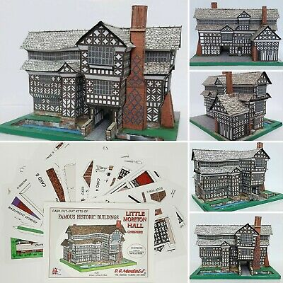 Little Moreton Hall Cheshire Full Colour A5 Card Model Cut Out Kit • 5.75£