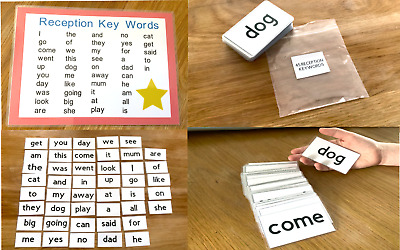 45 High Frequency Reception Flash Cards Keywords Word Mat KS1 Learning Resource • 6.25£