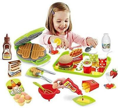 Electronic Cash Register Toy Till Microphone Pretend Play Shopping Basket Set • 12.99£