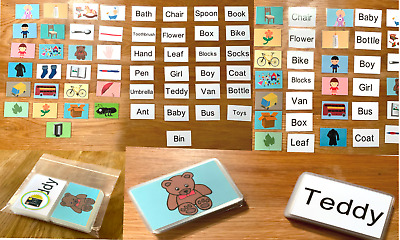 50 First Words Pictures Flashcards Set Kids Toddler Preschool Learning Resource  • 6.25£