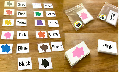 Colours Flash Cards Kids Toddlers Preschool Early Learning Resource Sen EYFS • 3.50£