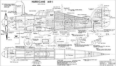 COMPLETE-A-PAC NO14 HAWKER HURRICANE MK1 Plans • 12.99£