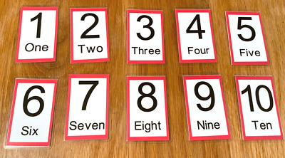 Numbers Flash Cards Kids Toddlers Preschool Early Learning Resource EYFS Sen • 2.50£