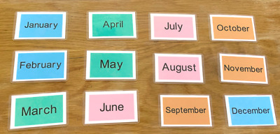 12 Months Of The Year Flash Cards Kids Toddlers Preschool Learning Resource Sen • 2.50£