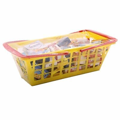 Eco Shopping Basket Filled For Children Purchase Load Toy Wooden Shop Accessory • 21£