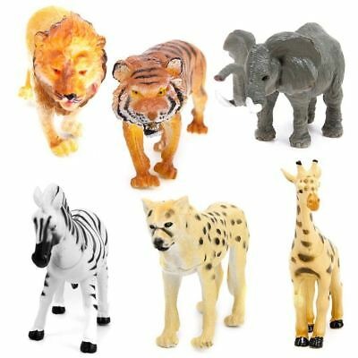 ASSORTED Jungle Zoo Plastic Animal Figures Elephant Tiger Giraffe Toys • 5.97£