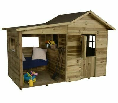 Wooden Wild Frontier Play Hut, Playhouse, Nursery, Kids, Outdoor, Climbing Frame • 1,035£