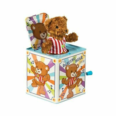 Dancing Bear Jack In The Box New Fun Wind Up • 22.89£