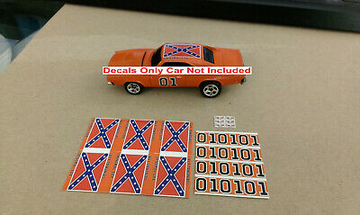 Hot Wheels Matchbox General Lee 6 Waterslide Decals 1/64 Decal Dukes Of Hazzard • 2.85£