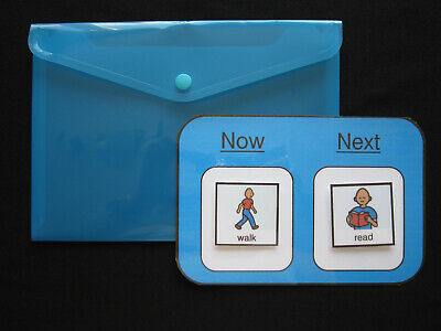 A5 Now & Next Board - Autism ADHD Non Verbal Visual Communication PECS Dementia • 3.50£