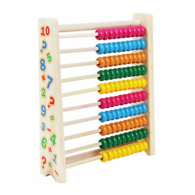 Wooden Bead Abacus Kids Educational Math Learning Colourful Toy Counting Numbers • 7.99£