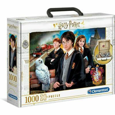 New Clementoni Harry Potter 1000 Piece Jigsaw Puzzle Carry Case • 12.69£