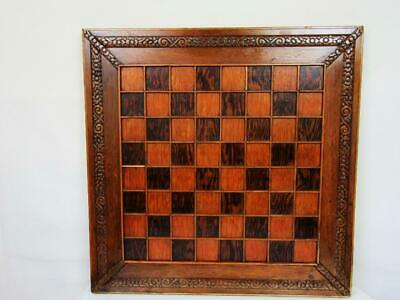 ANTIQUE OR VINTAGE ENGLISH X LARGE CHESS BOARD 55.8 Cm SQUARES OF 47 Mm • 150£