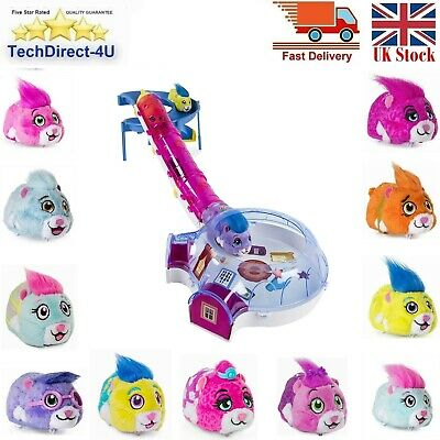 "Spin Master Zhu Zhu Pets Furry 4"" Hamster Toy With Sound & Movement 11 Types • 11.99£"
