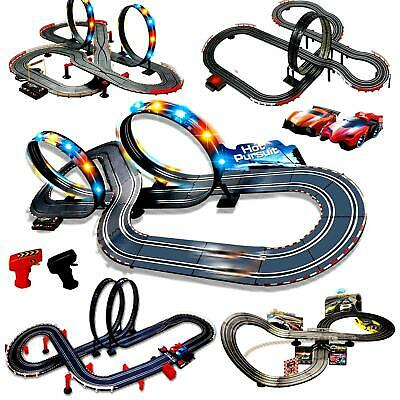 Electronic Slot Car Race Track Set Kids Remote Control Racing Toy Game Xmas Gift • 39.99£