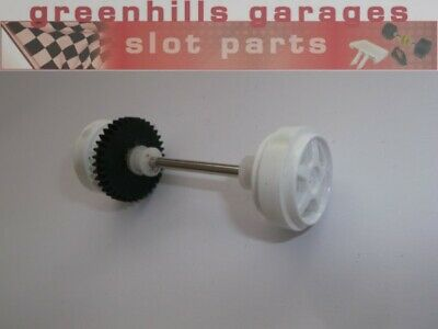Greenhills Scalextric Ford Focus WRC Rear Axle & Wheels White - Used -P5134 • 3.99£