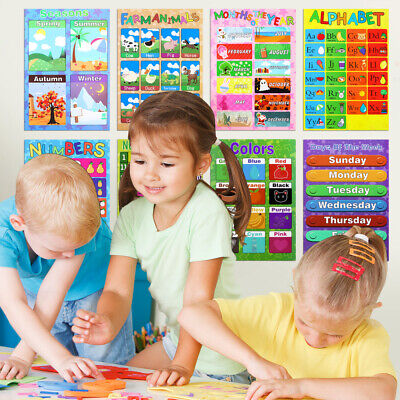 10 Educational Preschool Posters For Toddler Learning - Classroom, 10Pack • 13.99£